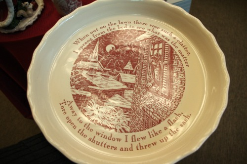 Holiday pie plate