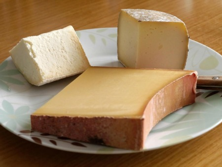 Three kinds of french cheese