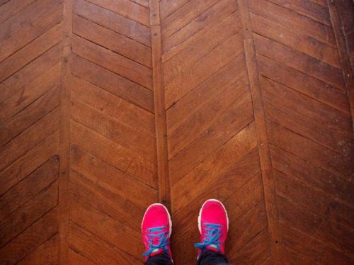 Chevron floors!!