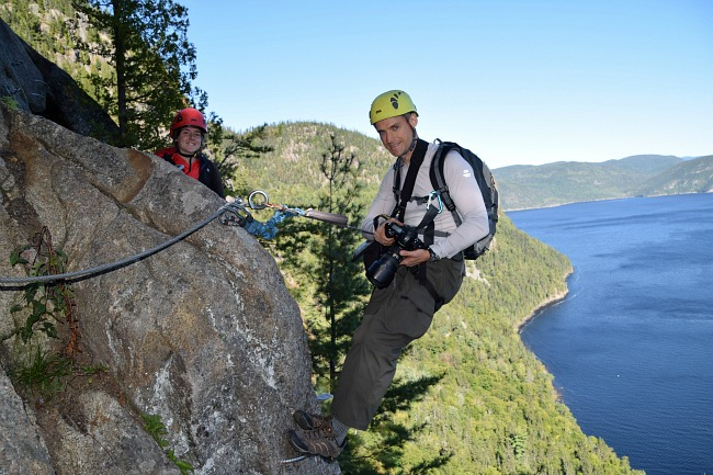 where i almost peed my pants via ferrata in fjord du. Black Bedroom Furniture Sets. Home Design Ideas