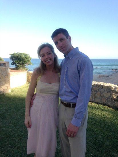 couple at a wedding