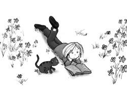 Lesen-in-Blumen
