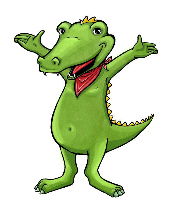 Krokodil-charakter