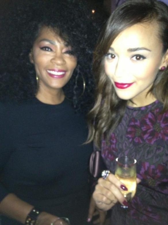 Jody Watley with Ashley Madekwe from hit series 'Revenge'