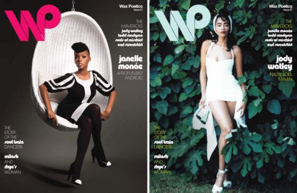 Janelle Monae and Jody Watley share cover.