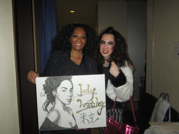 © 2014 Jody Watley, she was inspired by my makeup, music and style - and presented me with this beautiful piece of art.