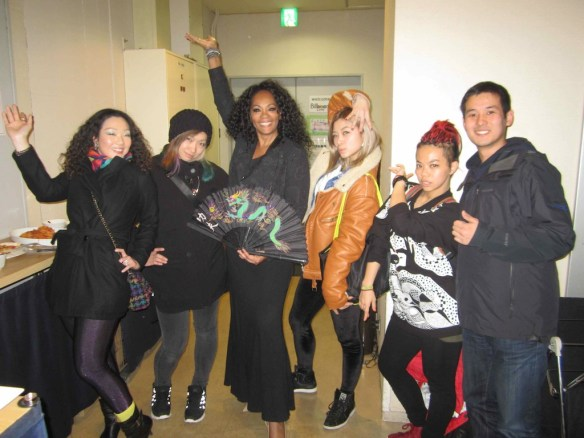 © 2014 Jody Watley with Maya Chou (she's done youtube video's to my music including 'Nightlife' and her Waacking Crew from Taiwan. I love that my fan base is so diverse.