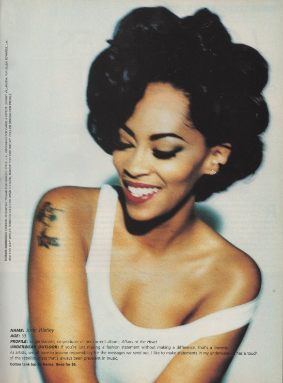 Jody Watley. DETAILS Magazine, Music Issue July 1992