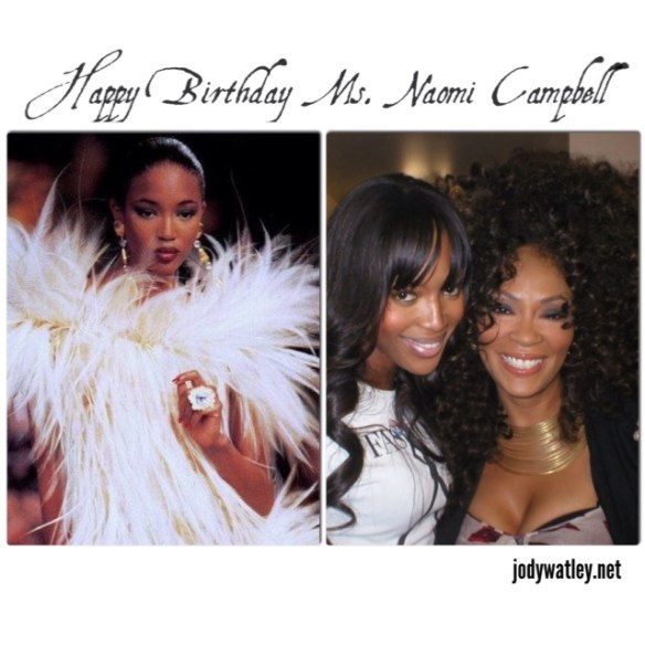 British legendary model Naomi Campbell and Jody Watley.