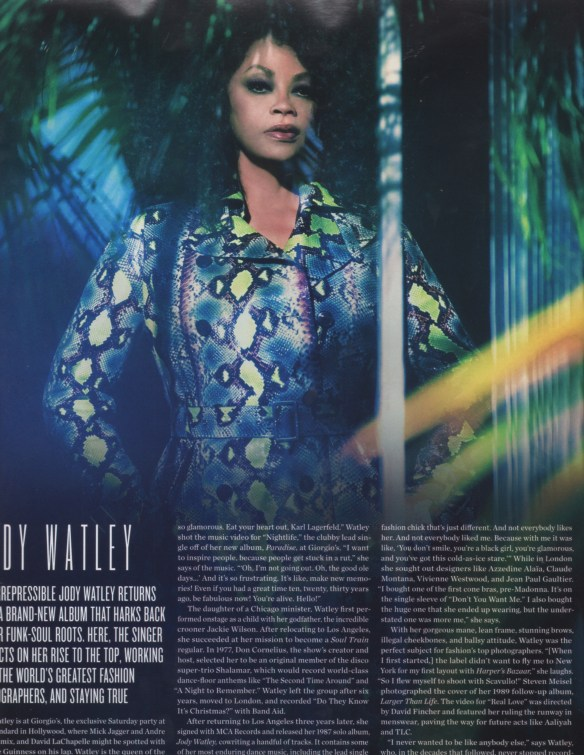 Jody Watley in Summer 2014 V Magazine