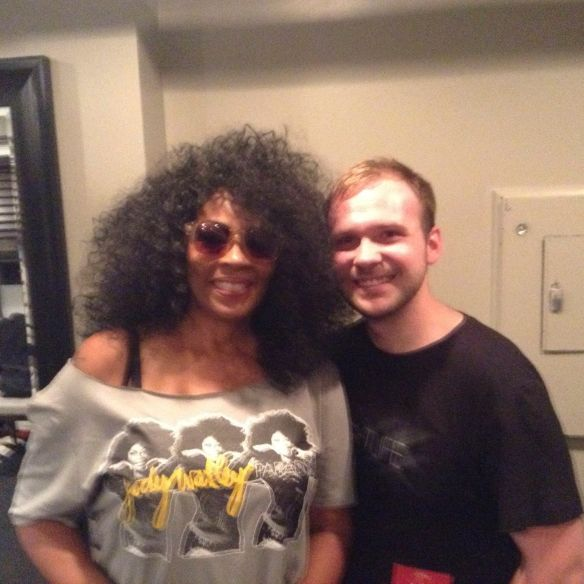 Jody Watley and Brian Walmer backstage. I love my fans and always try to show ,my appreciation.