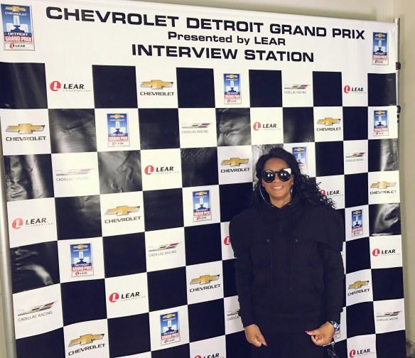 Jody Watley Detroit Grand Prix Interview Station