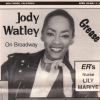 Jody Watley Throwback Thursday in 1996 On Broadway In The Hit Musical GREASE!