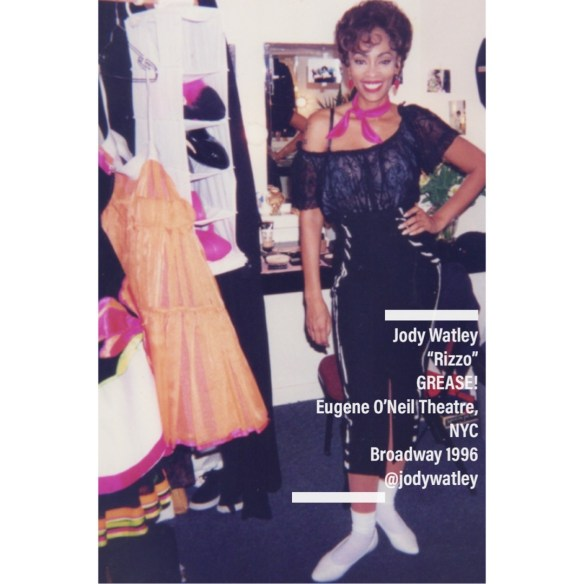 Jody Watley as Rizzo Grease Musical on Broadway Dressing Room1