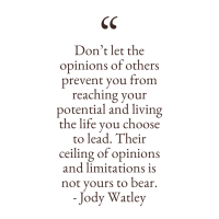 Wattage Thoughts. Don't Let Opinions Limit Your Potential.