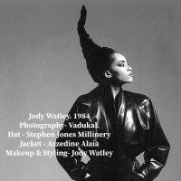 Jody Watley In Couture Stephen Jones Hat Classic Image of The Day.