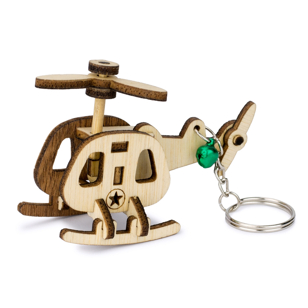 Wholesale Shop For Keyring Laser Cut Military Helicopter Made With Wood Joe Cool