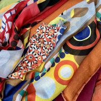 Scarf sensation! Brilliant and bright scarves for 2020.