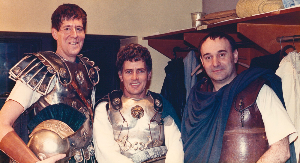"Martin Sheen and Edward Herrmann with Joe Costa in ""Julius Caesar"""
