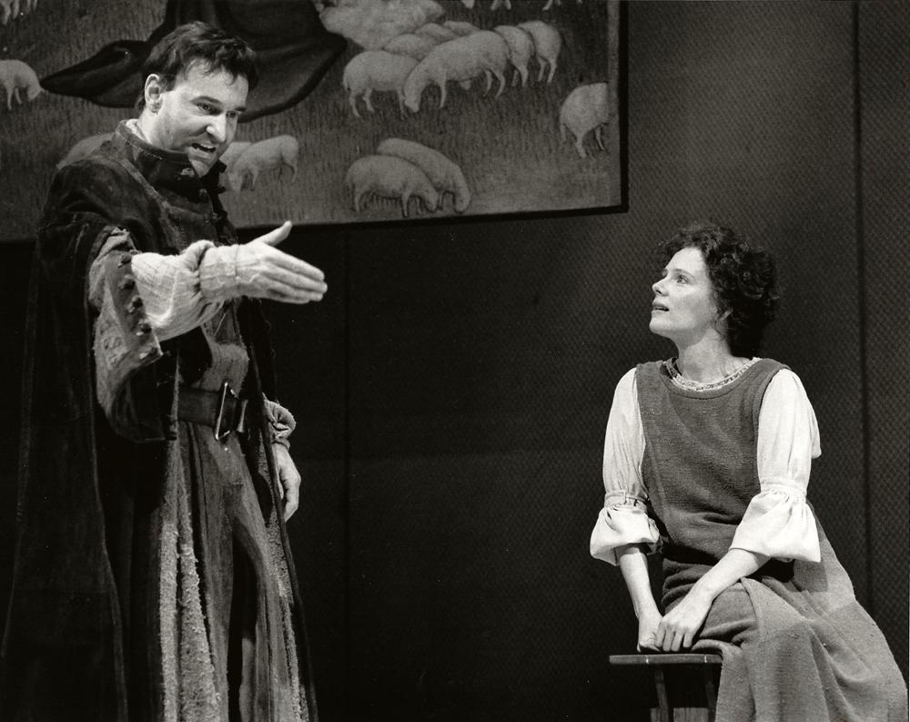 "Tony award Winner, Mary Ann Plunkett and Joe Costa in ""Saint Joan"""