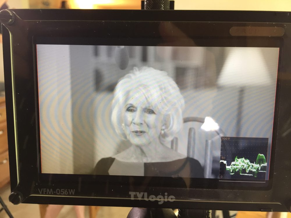 medium resolution of as seen through my monitor diane rehm conducting an interview for when my time comes