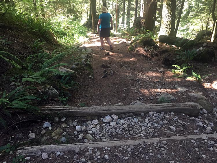 Biking and Hiking Near the Anmore RV Park in the Buntzen Lake Area, British Columbia. We love hiking the Academy Trail, which starts at the entrance to the Buntzen Lake Park. This would also be a great bike ride for technically skilled mountain bikers