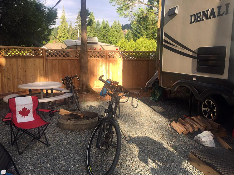 Review of Anmore Camp and RV Park, Near Vancouver. We had plenty of space for our 30 foot Denali, plus vehicle, and relaxation space