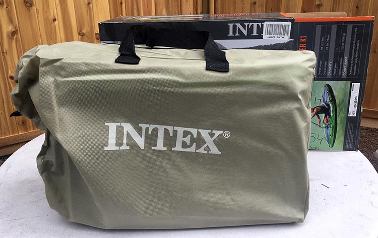 Review and Assembly of the Intex Challenger K1 Kayak – the Best Lightweight, Budget, Inflatable Kayak for RV Living. The Intex Challenger K1 kayak ships with a handy carry bag