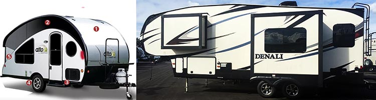 How to Choose the Right RV: 7 Tips to Help You Choose the Right RV. Left: the RV we THOUGHT we should buy, at the beginning. Right: the RV we actually bought in the end