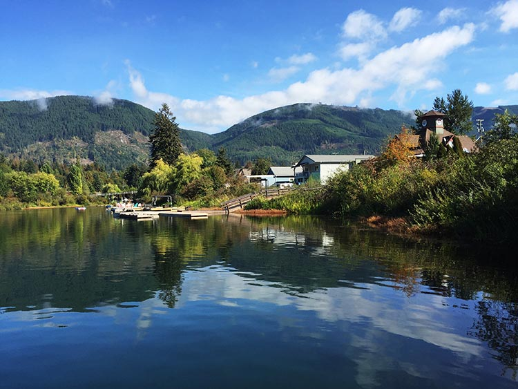 Lake Cowichan is huge, superbly clean, crystal clear, and full of fish