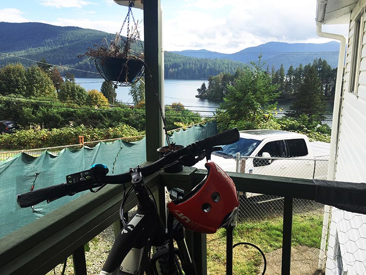 Youbou is a safe neighborhood with friendly people, and we were able to keep our bikes safely on the side porch of the cabin