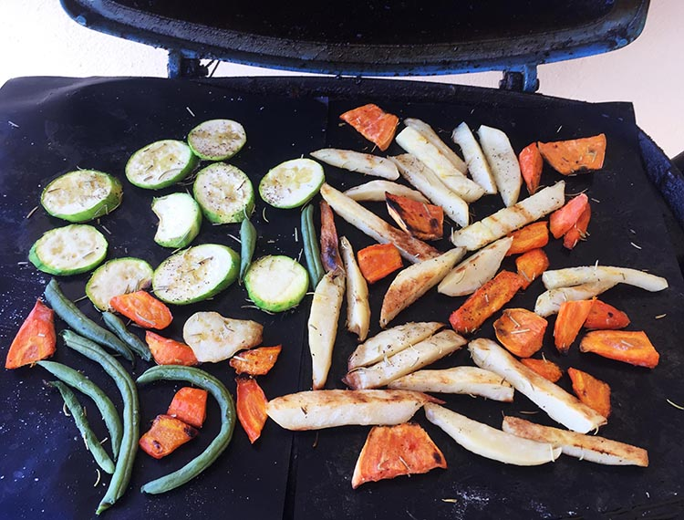 I use my grill mats to keep chicken moist, and also to barbecue things such as veggies