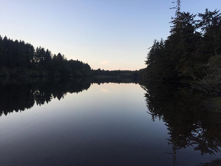 Coffenberry Lake at sunset