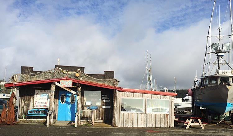 Review, video and photos of the Humbug State Park. We went to Griff's restaurant, which is the oddest little building right down on the dock at the Port of Port Orford