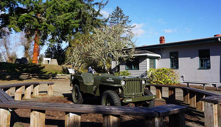 Bike Trails at Fort Stevens State Park in Oregon. Be sure to visit the small but interesting Museum at the Fort Stevens Historic Site