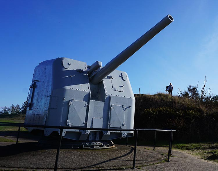 Bike Trails at Fort Stevens State Park in Oregon. I thought this gun looked a lot like a dalek!