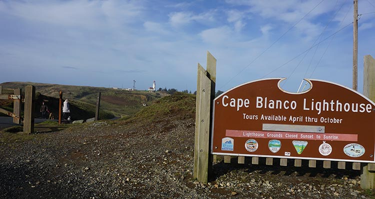 Review, video and photos of the Humbug State Park. Cape Blanco Lighthouse near Port Orford is well worth a visit