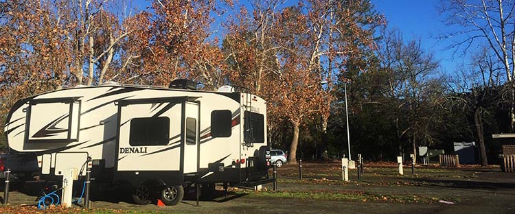 Our rig at the Calistoga RV Park