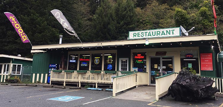 Review of Mystic Forest RV Park, near Klamath, California. The expensive store across the road from the Mystic River RV Park