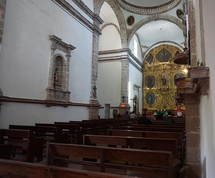 Day 5 of our RV Trip with Baja Winters: San Ignacio to Santispac Beach, Bahía de Concepción, Baja California Sur, Mexico. Here is a view of the interior of the Mision San Ignacio church