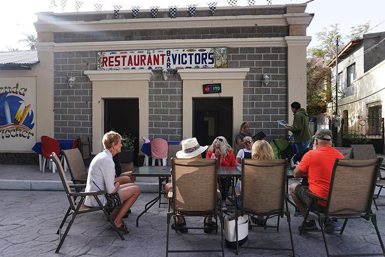 Here is another view of our group enjoying Victor's Restaurant in the village of San Ignacio