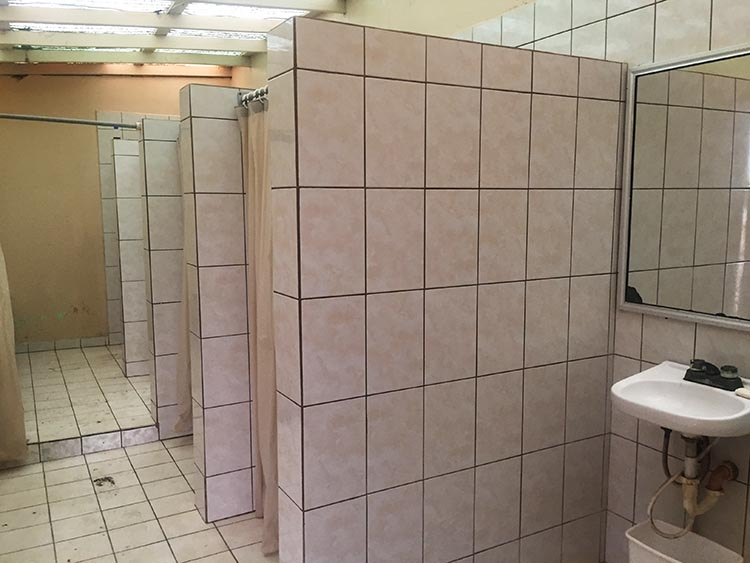 The interior of the washrooms at El Pabellon RV Park was exceptional by Baja standards