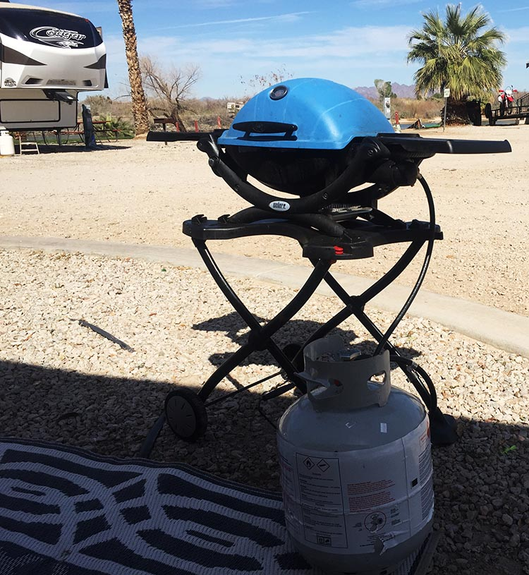 I now use my Weber barbecue with a 5 gallon gas canister