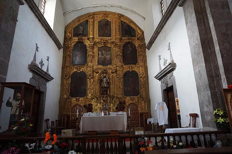 Interior of the San Javier Mission Church