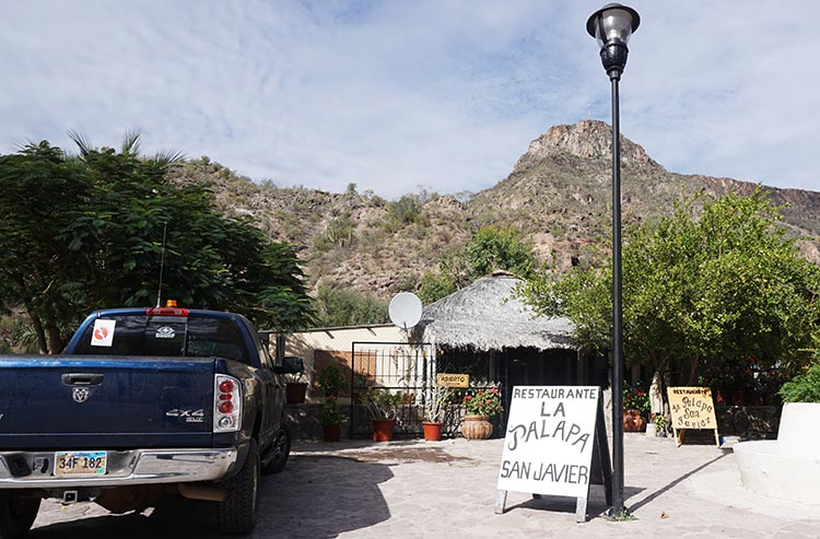 The La Palapa Restaurant in San Javier