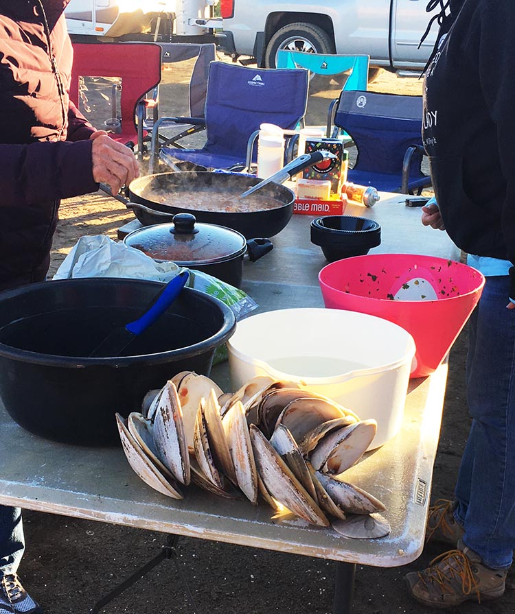 The clams were enormous and delicious! Photo by Nancy Bacciarini