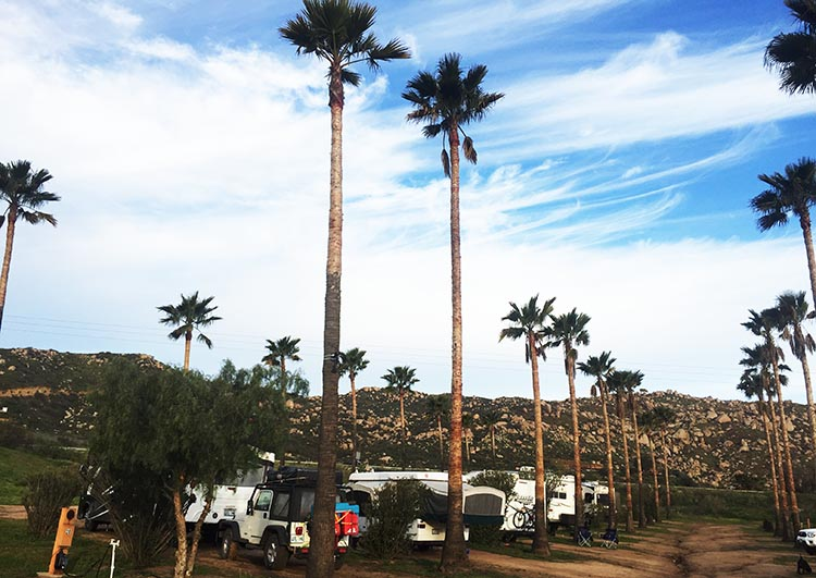 Some of our rigs parked at Sordo Mudo RV Park
