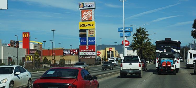 Our Return RV Caravan Trip from Baja California: Santispac Beach to Tecate. Ensenada has plenty of chain stores and traffic