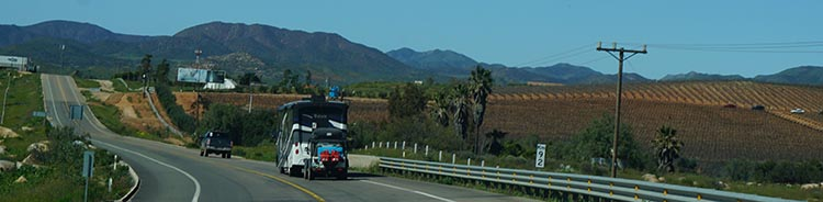 Good roads are necessary to export all the wine and other agricultural goods that are produced in northern Baja California