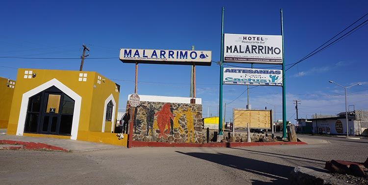 This is the entrance to the Malarrimo RV Park in Guerrero NegroOur Return RV Caravan Trip from Baja California: Santispac Beach to Tecate.